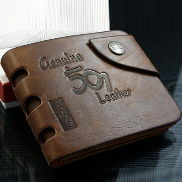 Мужской кошелек из натуральной кожи Genuine 501