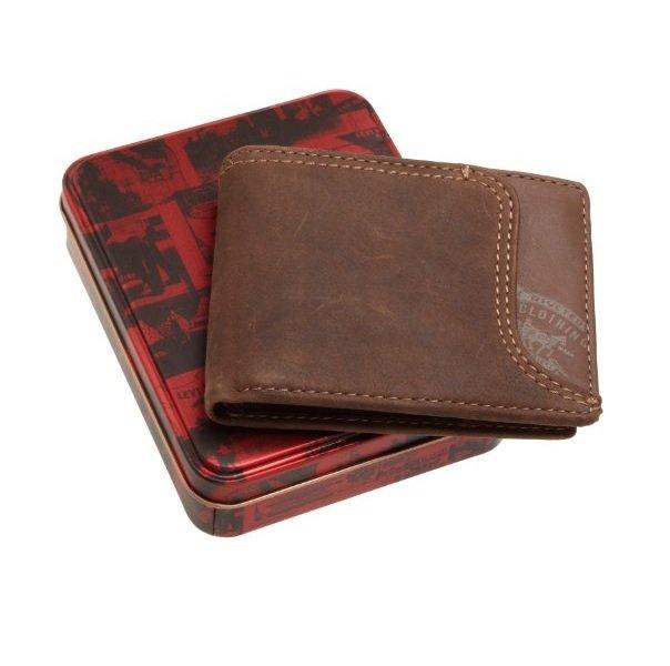 Мужской кожаный бумажник Levi's Passcase