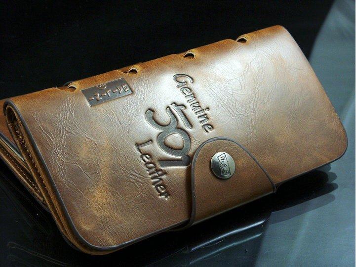 """Мужской длинный кошелек из натуральной кожи """"Genuine 501"""""""