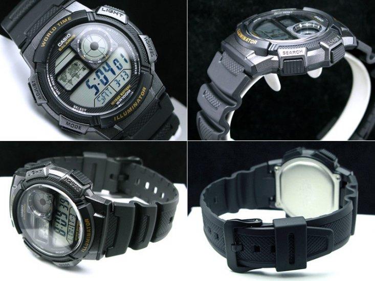 Мужские японские наручные часы Casio AE-1000W-1B
