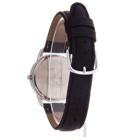 Мужские часы Timex с черным кожаным ремешком