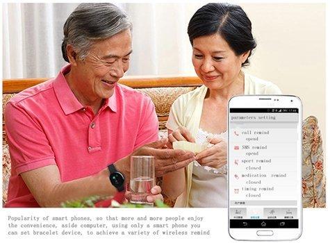 Смарт часы- браслет с Bluetooth шагомер / счетчик калорий/ SMS напоминание