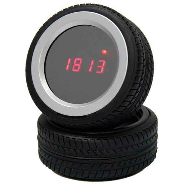 Часы - будильник Колеса, управление по хлопку
