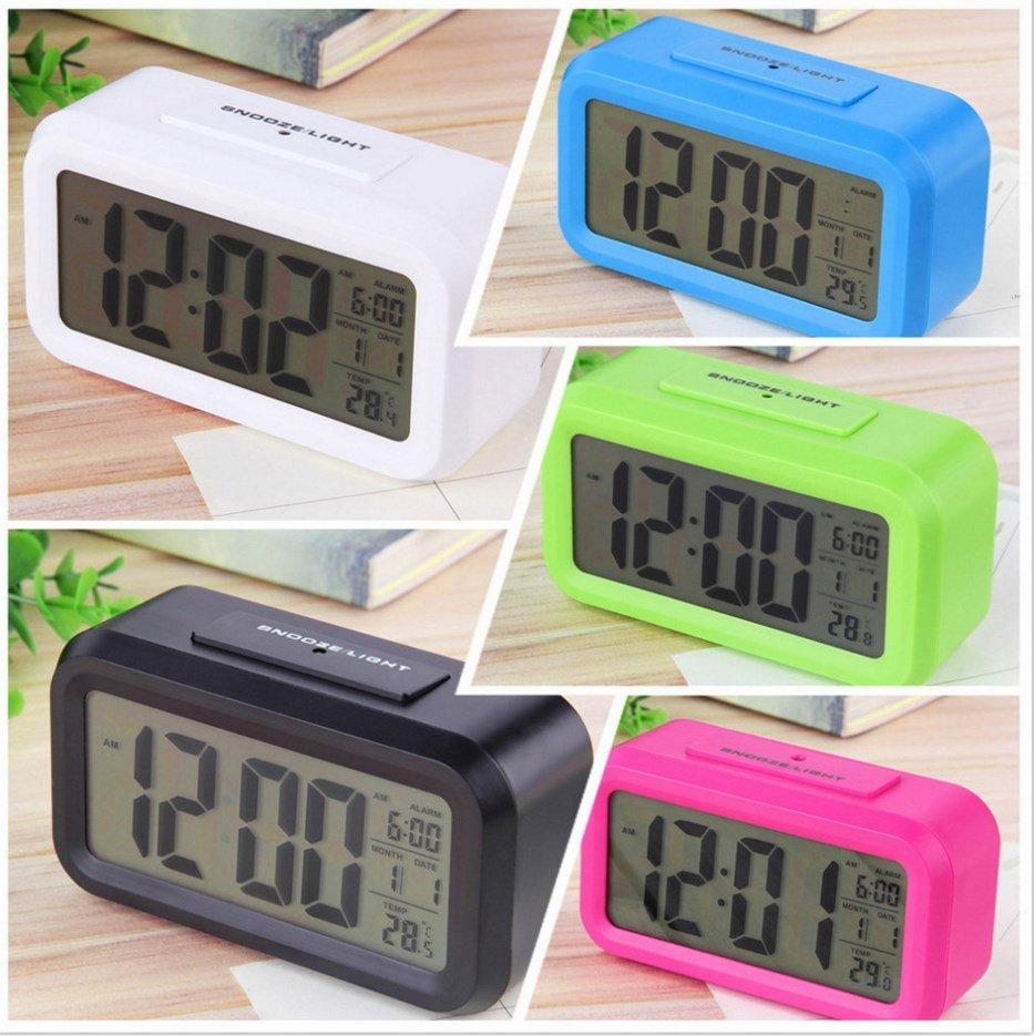Светодиодные настольные часы - будильник / температура/ календарь