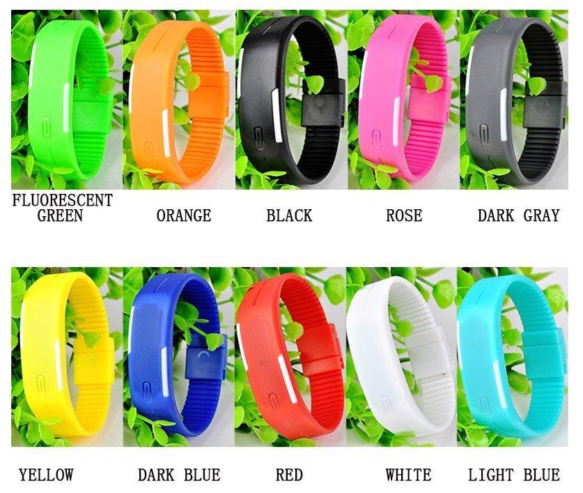 Спортивные силиконовые LED часы