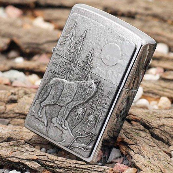 Зажигалка Zippo Лесные волки (Timberwolves)